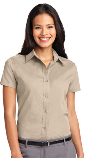 #L508 – Ladies Short Sleeve Easy Care Twill