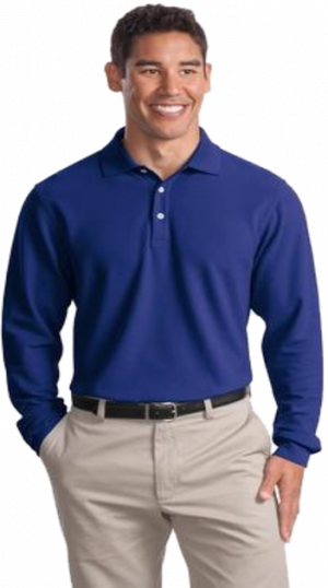 #K800LS – Men's 100% Cotton Performance Plus Long Sleeve Polo